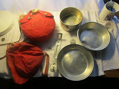 Vintage Boy Scouts of America Aluminum Canteen and Mess Kit Set