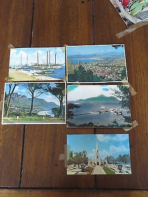 5 Old Postcards - Bermuda, Seychelles & South Africa - 1960s