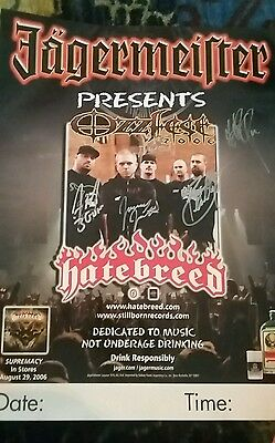 Hatebreed signed poster