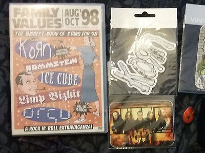 Korn bundle necklace stickers badge family values dvd