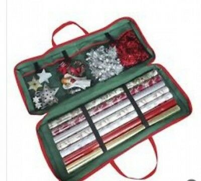 Christmas Storage Bag Gift Wrapping Paper Organizer Xmas Tag Baubles Decorations