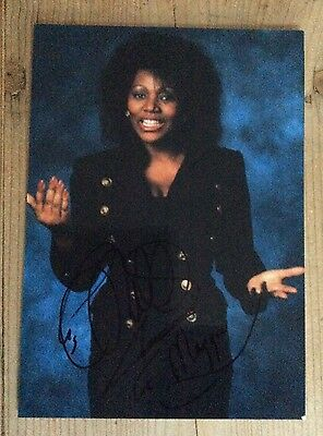 LIZ MITCHELL  - original autograph signed photo card - BONEY M original singer