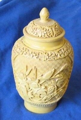 Chinese Yellow Lacquer Jar With Lid