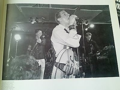 The Clash Live 1977 Single Page Poster from Music Magazine 22x16cm