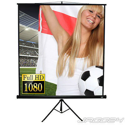 Wall Projector Screen Home TV Film Retractable Projection Presentation w/ Tripod