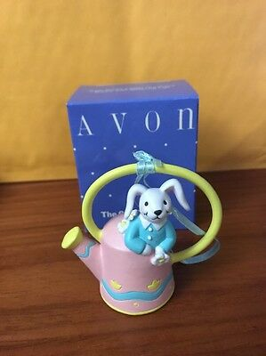 Avon Busy Bunny Easter Ornament Bunny With Watering Can! Gift Collection!