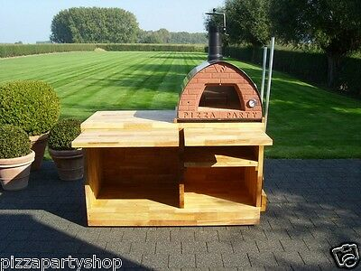 Original portable wood fired oven Pizza Party 70x70 GREEN Outdoor and indoor use