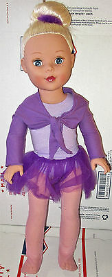 "Madame Alexander Doll 18"" My Life As A Ballerina Blonde In Purple Tutu"