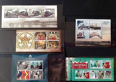 GB 2014 Complete Set Miniature Sheets - RM stamps mini sheets - Unmounted MNH