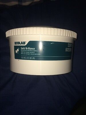 Ecolab #25395 Concentrated Solid Brilliance Rinse Additive (Green) FREE SHIPPING
