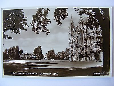 Postcard, Salisbury Cathedral, West Front