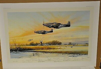 """HOME AT DUSK"" by Robert Taylor with 18 ACES Signature RARE"