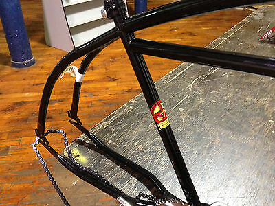 Roadmaster bicycle frame USA with chainring cleveland welding rat rod black