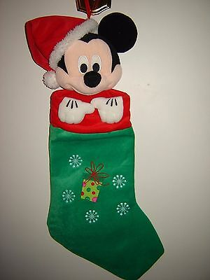 Walt Disney Mickey Mouse Stuffed 21 Inch Christmas Stocking - Embroidered