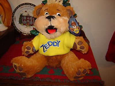 Zellers Department Store Zeddy Teddy Stuffed Plush Bear w/T-Shirt - With Tag