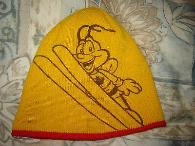 Honeynut Cheerios Reversible Red Blue Beanie Hat Snowboard Maple Leaf Olympics