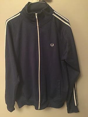 Lighter Blue Fred Perry Track Top XL