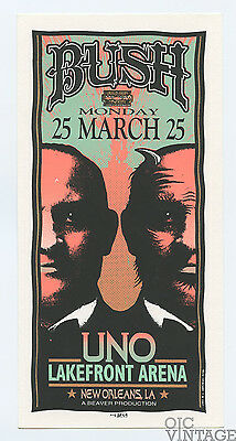 BUSH Handbill 1997 Mar 25 UNO Lake Front Areana New Orleans Mark Arminski