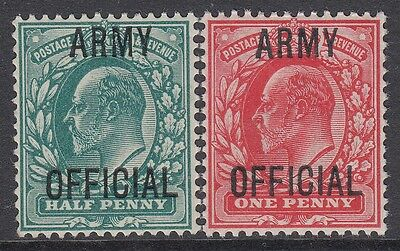 GREAT BRITAIN 1902 KEVII ½d & 1d ARMY OFFICIAL superb fresh UMM **