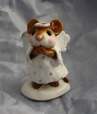 Wee Forest Folk M-212 Ice Angel, White dress w/ silver  NEW never displayed