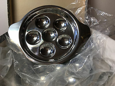 Vintage Set Escargot Complete for Four Stainless Steel Made in Germany