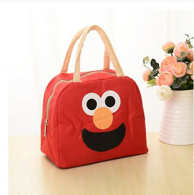 Insulated Lunch Bag Cool Tote Cooler Canvas Cartoon  Picnic Beach Food Holder