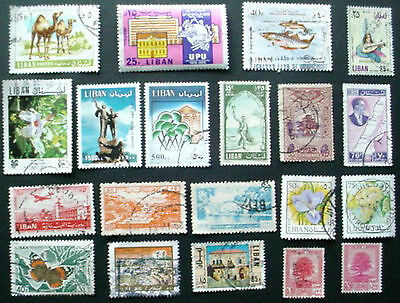 Lebanon: Collection Of 20 Used Stamps: Lot 4
