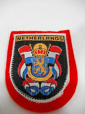 """Red Felt Netherlands Coat of Arms Embroidered Patch 2.5"""" x 2.5"""""""
