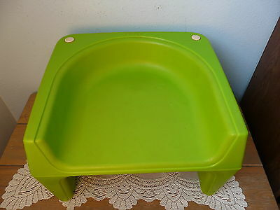 Vintage Cosco Child Booster Seat 2 Heights Mid Century Green