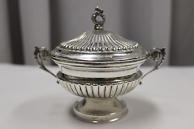 Antique Calderoni  Solid Coin Silver Covered Sugar Dish - Solid