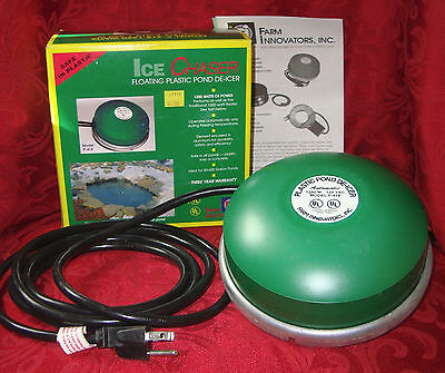 NEW Farm Inovators Ice Chaser Floating Pond De-Icer Model P418 1250W