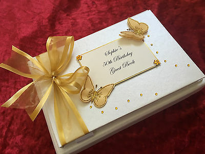 Personalised Birthday Gift Guest Book Party 18th 21st 30th 40th 50th 60th 70th