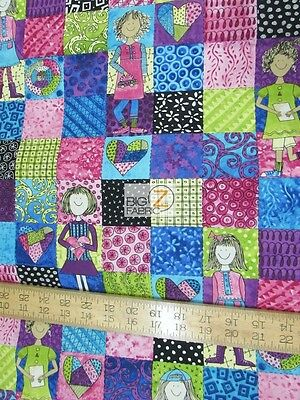 Heart And Soul Sisters Squad By Hoffman California Cotton Fabric Fh-3045 By Yard