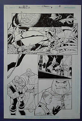 Rebels Vol.2 #9 pg. 3 Dec.'09 Original Art by Claude St. Aubin & Scott Hanna
