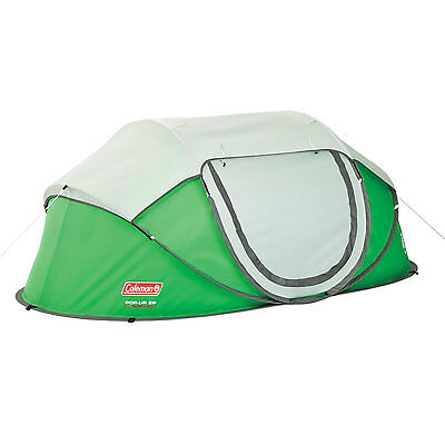 2 Man Person Coleman Fast Pitch Pop Up Tent Outdoor Festival Hiking Camping Gear