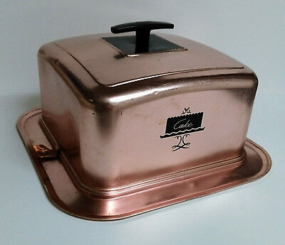 West Bend Vintage Copper Finish Cake Carrier - FREE SHIPPING