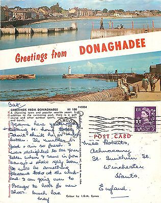 s06830 Donaghadee, Down, Northern Ireland postcard posted 1966 stamp