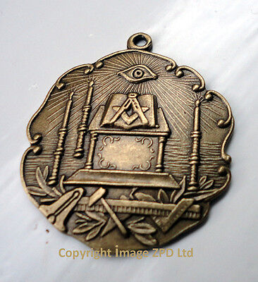 ZP332 Freemason Tools Altar Square Compass Vintage Style Pendant All Seeing Eye