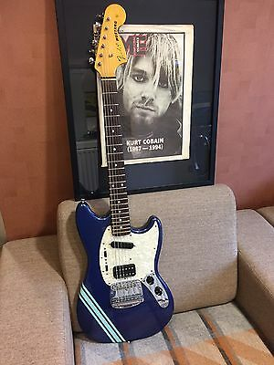 Genuine Kurt Cobain Fender Mustang Very Rare Lake Placid Blue signature Guitar