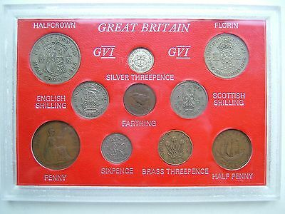 Great Britain George Vi Coin Colletion - Great Condition & Price