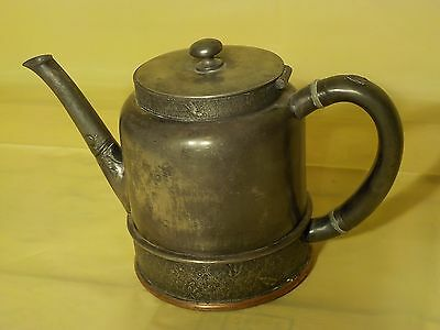 Antique Ornate Victorian Embossed Rogers & Bro Triple Plate Tea Pot Marked