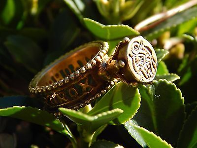 Gypsy Wax Seal Signet Spell Ring - Haunted Invoked amulet