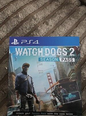 WATCHDOGS 2 SEASON PASS DLC -UK PS4  - Same Day Dispatch