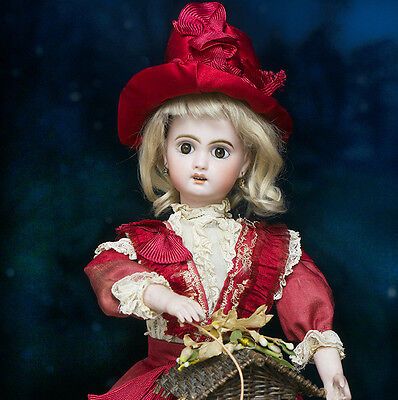 Antique French Musical Automaton Jumeau doll with Basket & Surprise by LAMBERT