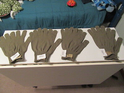 4 PRS GLOVE INSERTS Liners Coyote Brown USGI US Military Issue Extra Large NEW