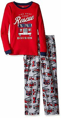 Carter's Boys 2 Piece Sleep Shirt & Pants Pajama Set NWT  4T or  7 Fire Rescue