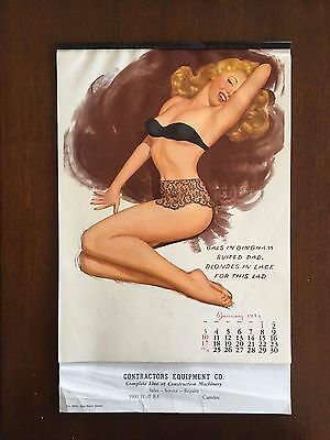 1954 Sample Marilyn Monroe *EXTREMRELY RARE* complete pin up calender.