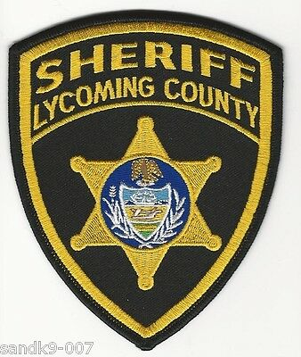 Lycoming County Sheriff State PENNSYLVANIA PA Shoulder Patch