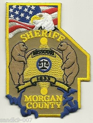 Morgan County Sheriff State of MISSOURI Shoulder Patch MO Colorful
