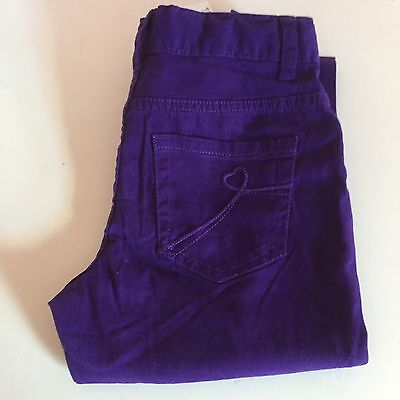 The Childrens Place Girls Size 8 Purple Jeggings Pants Adjustable Waist New